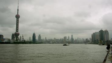 Timelapse Shanghai Skyline stock footage