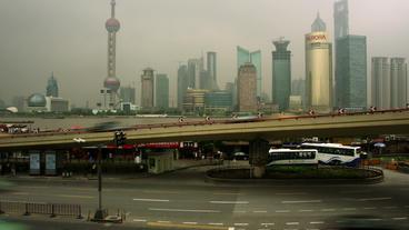 Timelapse Pudong skyline Footage