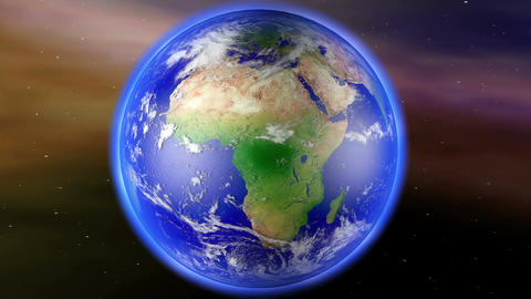 4 K Earth Zoom To Africa 1 stock footage
