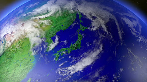 Earth Zoom to Japan 1 Animation