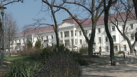 4K Balatonfured Hungary Sanatorium Heart Hospital stock footage