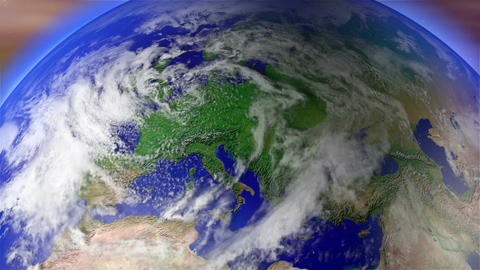Earth Zoom to Europe 1 Animation