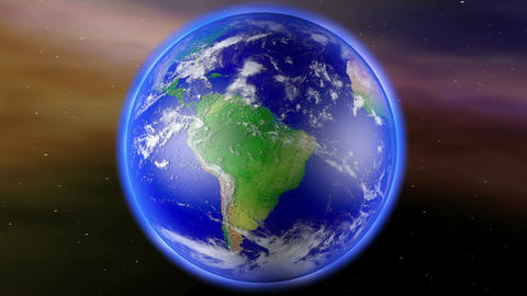 Earth Zoom to South America 1 Animation