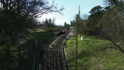 4K Cogwheel Railway Budapest Hungary 1 stock footage