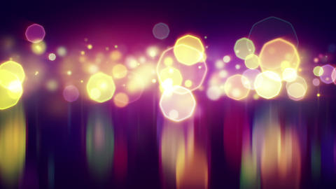 shiny bokeh lights with reflections loop backgroun Animation