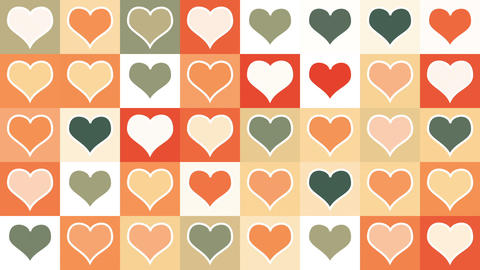 heart shape tiles loopable background Animation