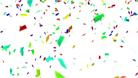 colorful confetti with luma matte loopable backgeo Animation