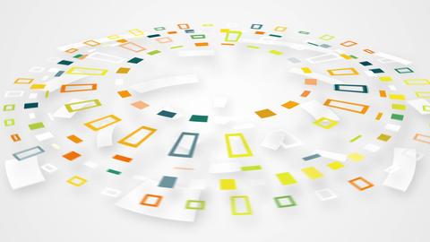 colorful circular segments rotating loop Animation