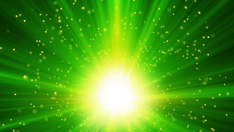 green light and particles loop background Animation