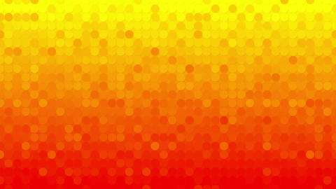 abstract orange circles mosaic loopable background Animation