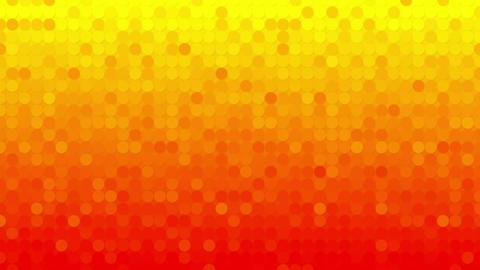 abstract orange circles mosaic loopable background Animation