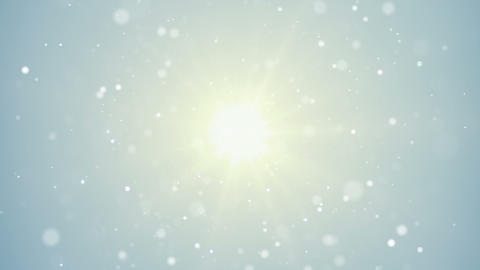bright light and flying particles loop background Animation