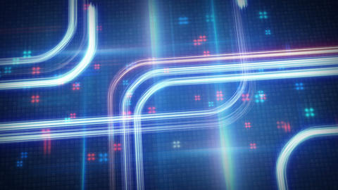 light streaks techno futuristic loop background Animation