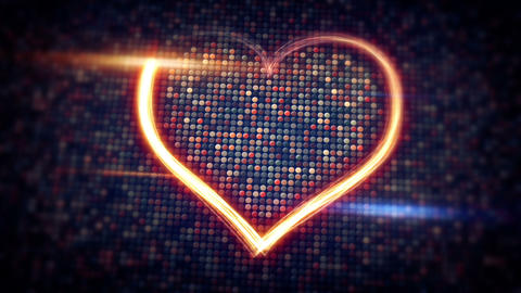 light streaks heart shape loopable Animation