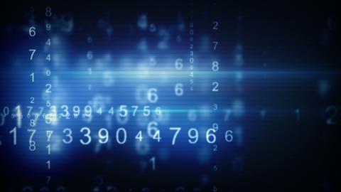 blue digital data arrows loop background Animation