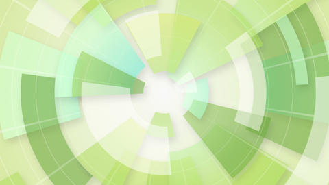 green circular segments loop background Animation