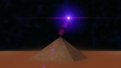 Pyramid With UFO Light HD stock footage