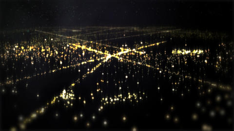City lights 01 CG動画素材