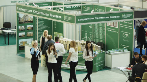 Russian agency at international property exhibitio Footage