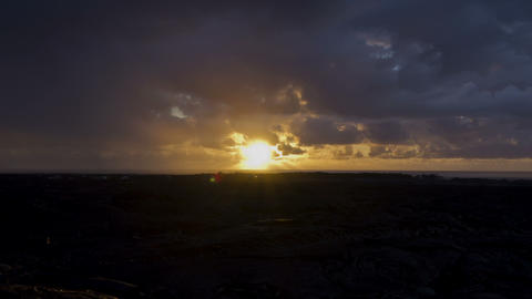 Lava Fields Sunrise, Timelapse, Big Island, Hawaii stock footage