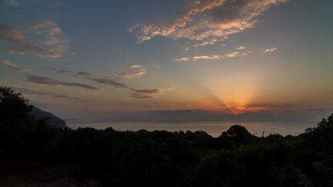 Cala Gonone Sunrise, Timelapse, Sardinia Filmmaterial