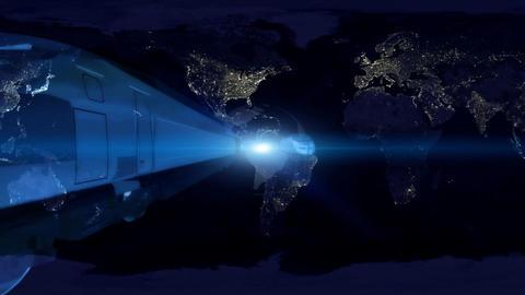 globe train Stock Video Footage