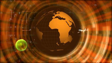 jet circling globe Stock Video Footage