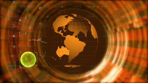 jet circling globe Animation