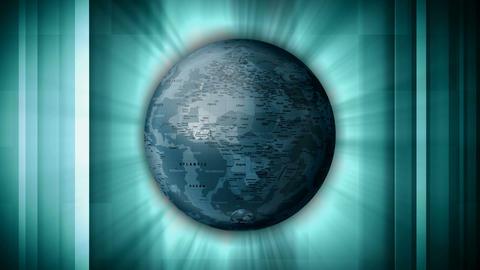 sectional globe Stock Video Footage
