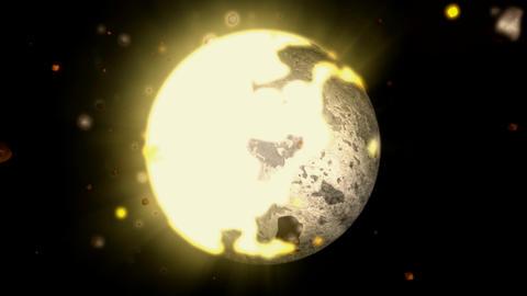 disintagrating sphere hd Stock Video Footage