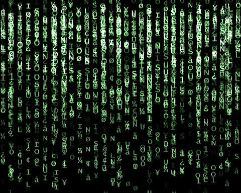 matrix screen Stock Video Footage