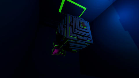energy cube tunnel Stock Video Footage