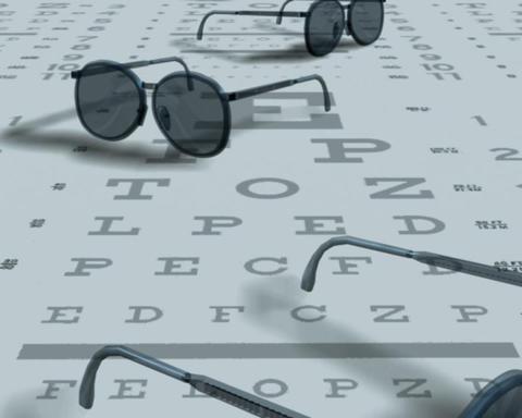 eye exam Stock Video Footage