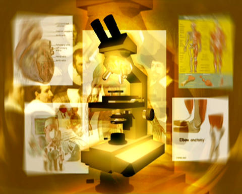 golden microscope Stock Video Footage