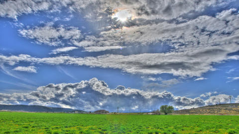 clouds field Stock Video Footage