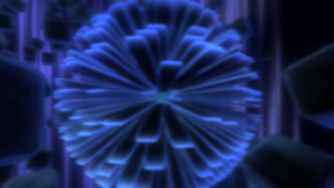 electric snow flake Stock Video Footage