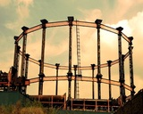 Gas Structure Ntsc stock footage