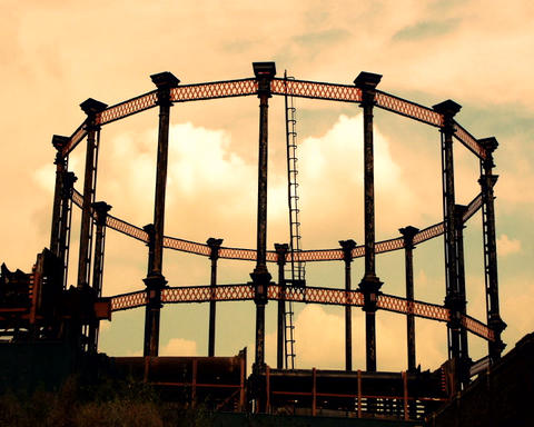 gas structure Stock Video Footage