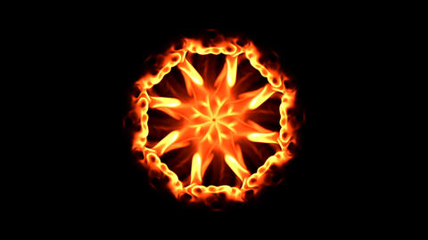 flames mandala 1 Stock Video Footage