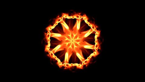 flames mandala 1 Stock Video Footage