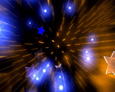 golden blue stars Stock Video Footage