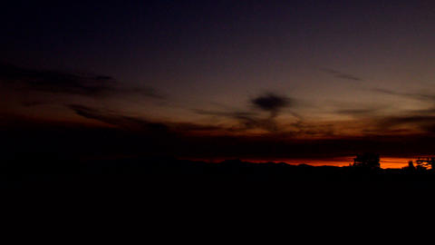 distant sunset Stock Video Footage
