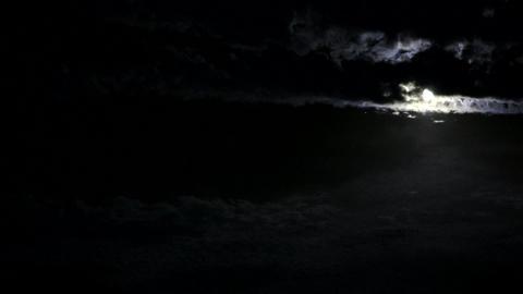midnight moonlapse Stock Video Footage