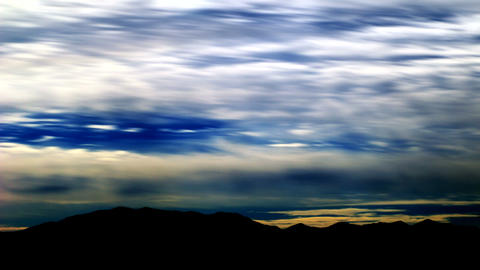 smudged clouds Stock Video Footage