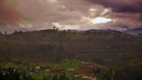 a foggy ecuador Stock Video Footage