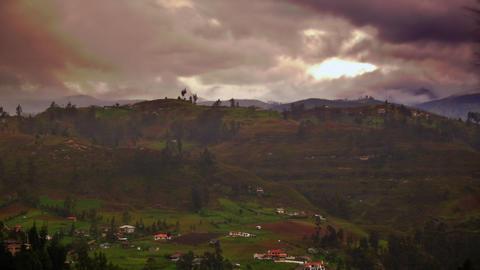 a foggy ecuador Stock Video Footage