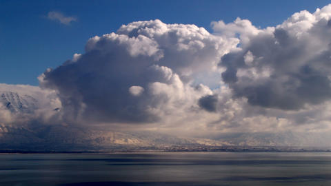 billowing clouds Stock Video Footage