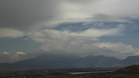 low contrast clouds Stock Video Footage
