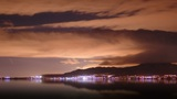 Nighttime Harbor stock footage