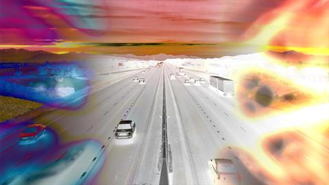 car composite invert Stock Video Footage